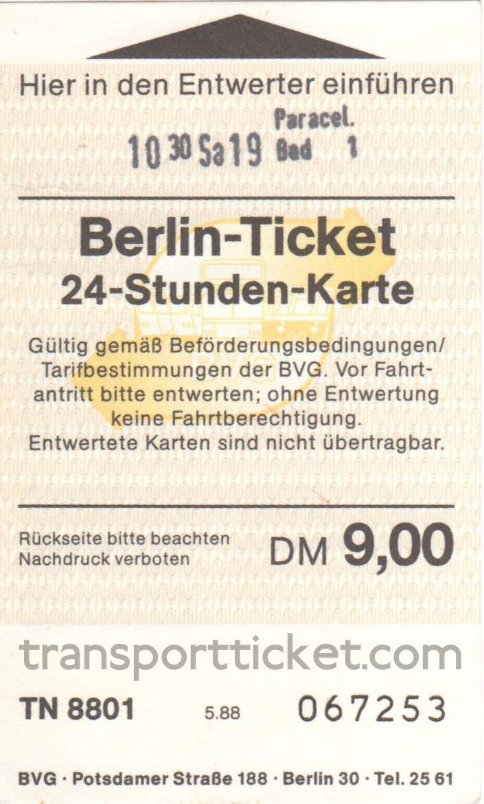 BVG dayticket (1988)