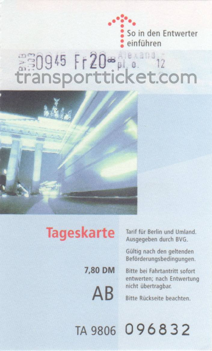 BVG dayticket (1990)