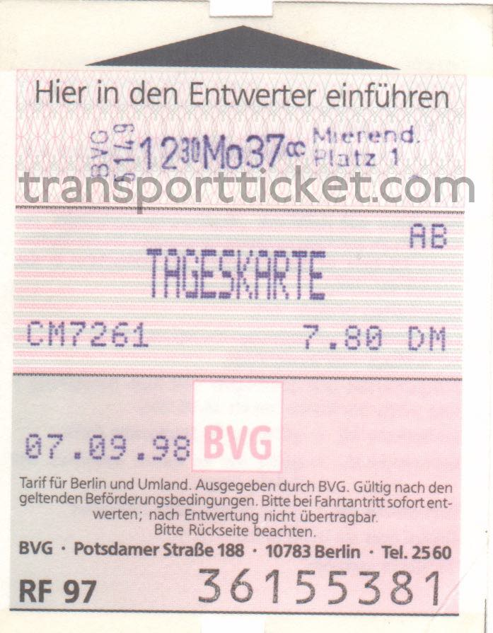 BVG dayticket (1998)