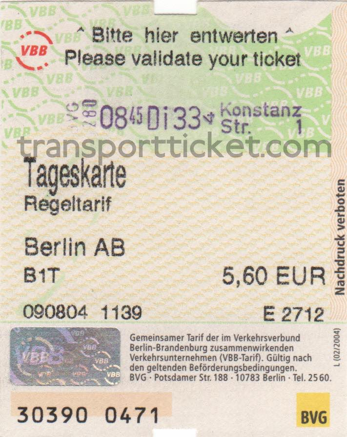 BVG dayticket (2004)
