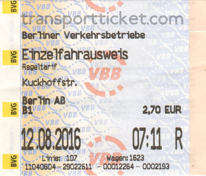 BVG single ticket (2016)