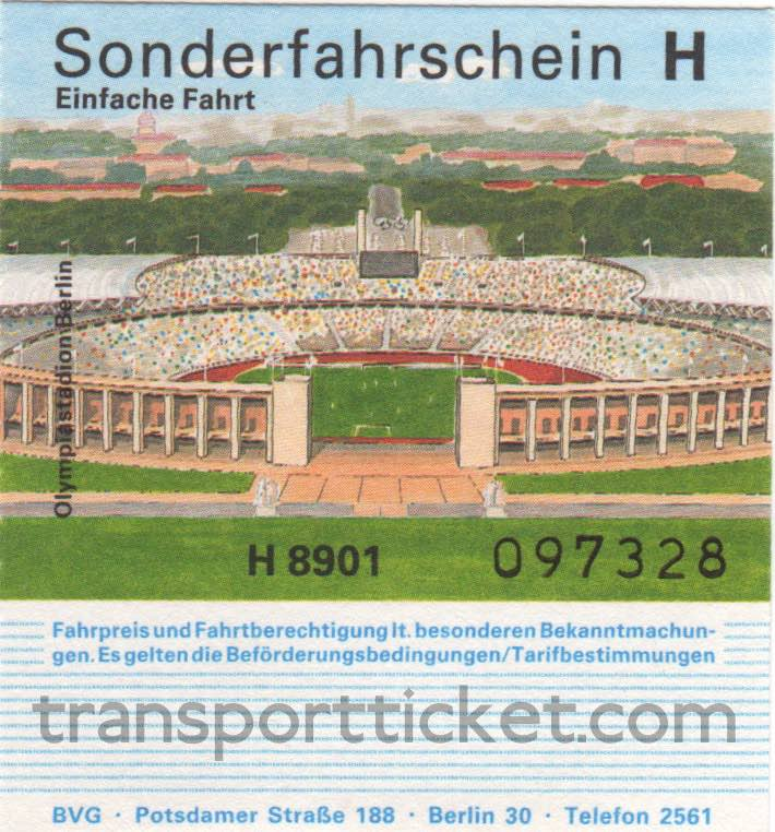 BVG single ticket, special busline connecting hotels and exhibition centre IFA (1989)