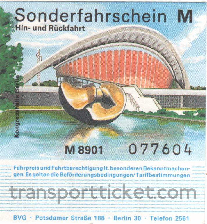 BVG return ticket, special busline connecting airport and exhibition centre IFA (1989)