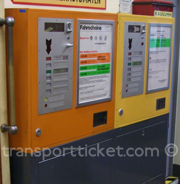 BVG ticket machine (collection U-Bahn Museum Berlin)