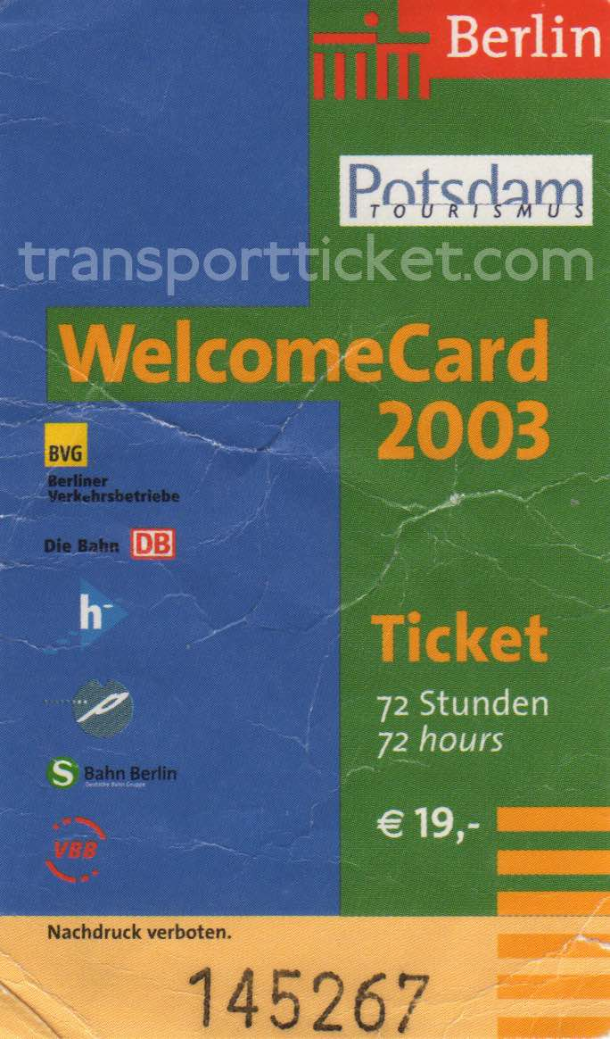 Berlin welcomeCard (2003)