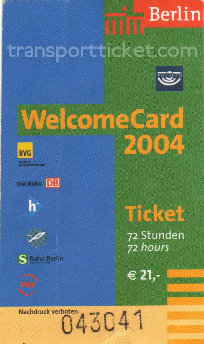 Berlin welcomeCard (2004)