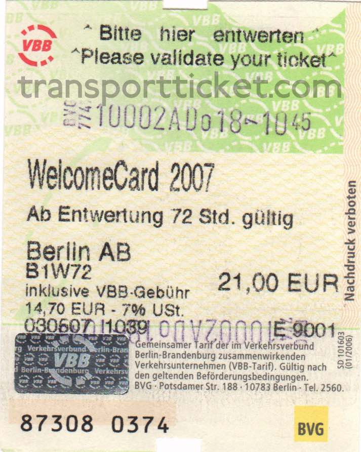 Berlin welcomeCard (2007)