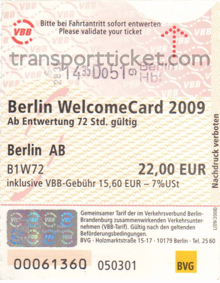 Berlin welcomeCard (2009)
