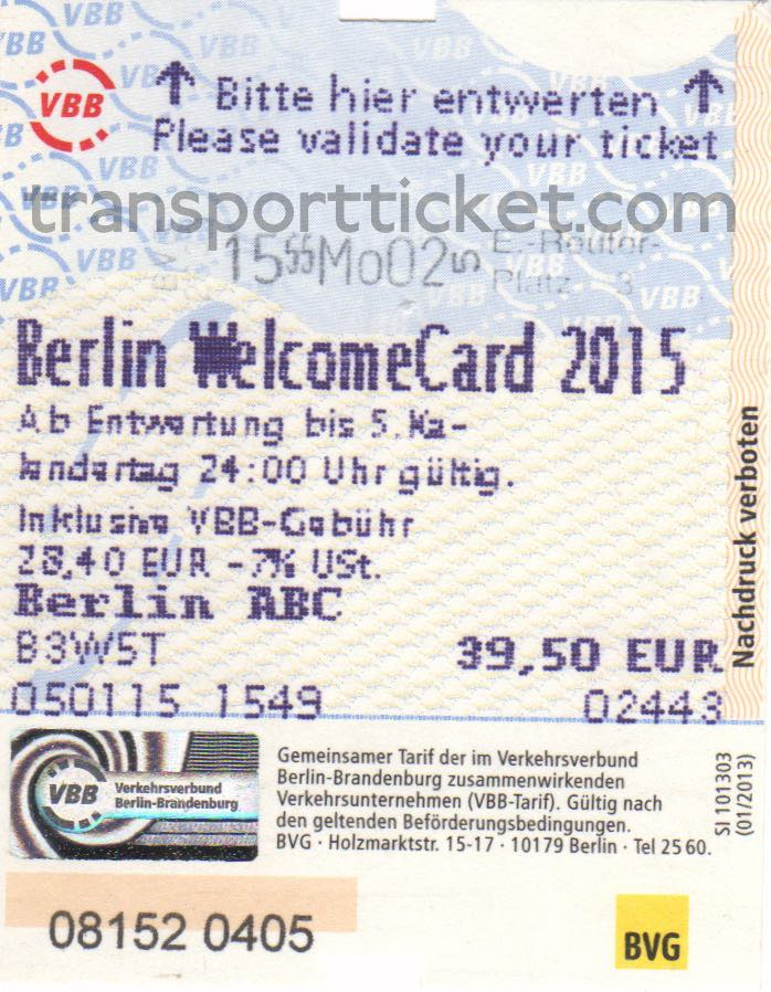 Berlin welcomeCard (2015)