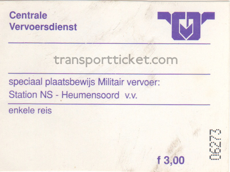 CVD bus ticket Vierdaagse for military personnel