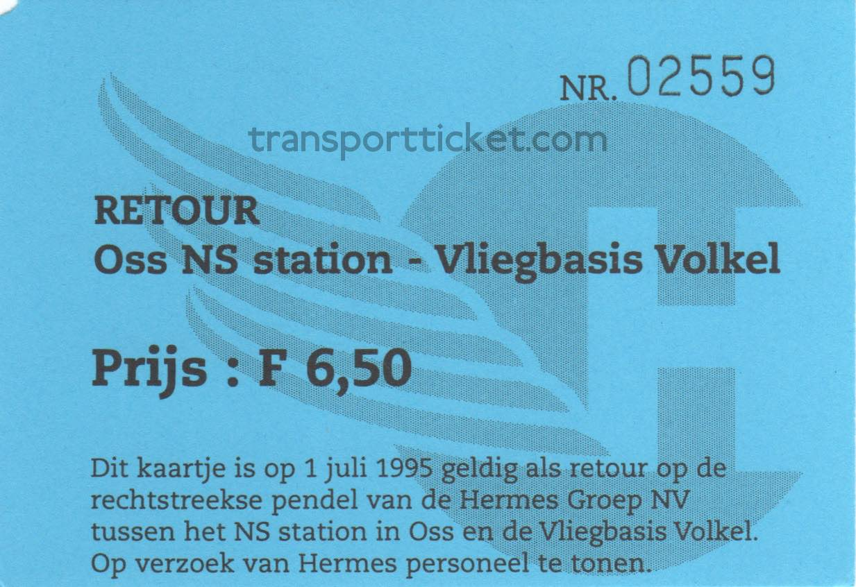 Hermes bus ticket Open day airforce base Volkel (1995)