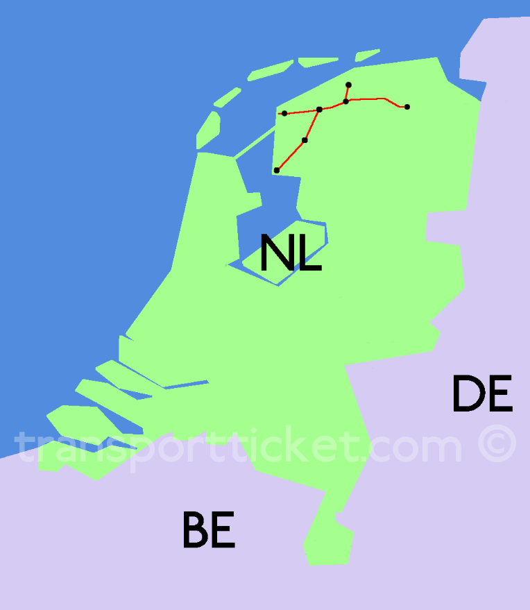 M-ticket Noordned initial area of transport