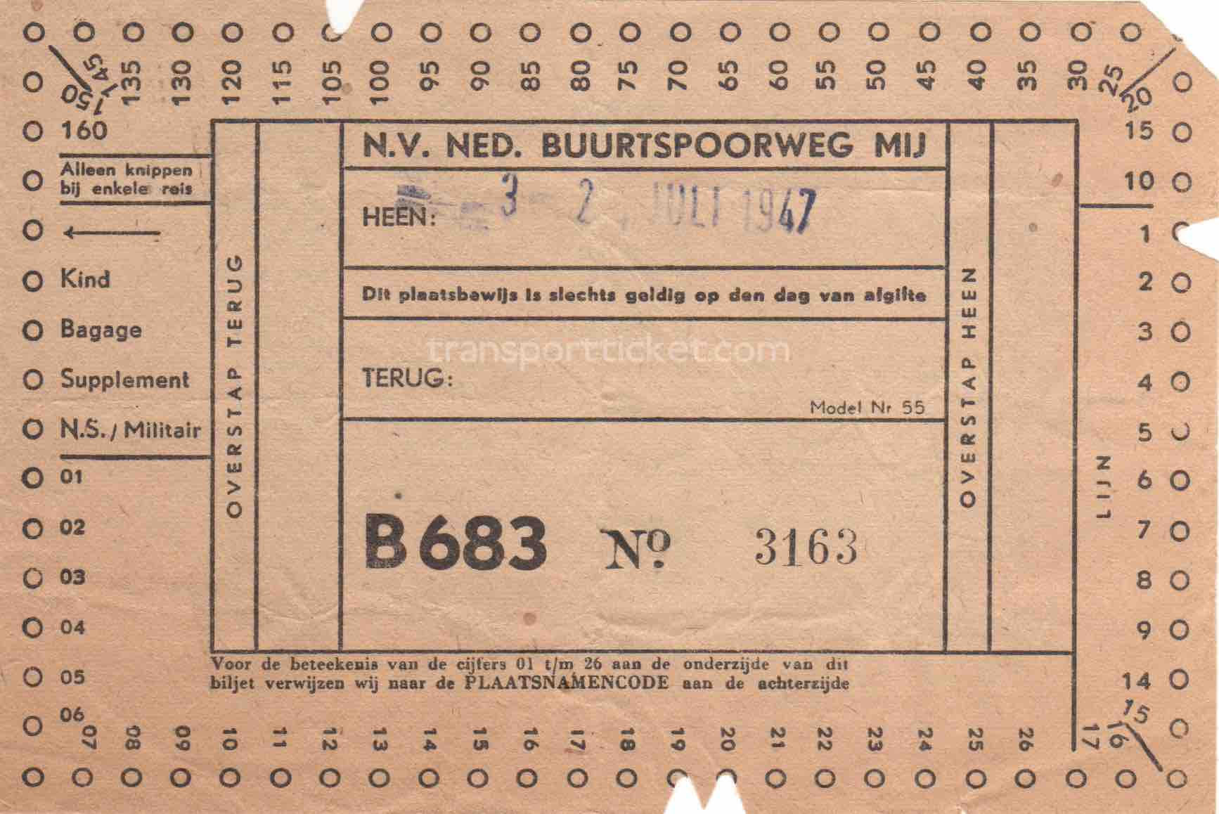 NBM bus ticket (1947)