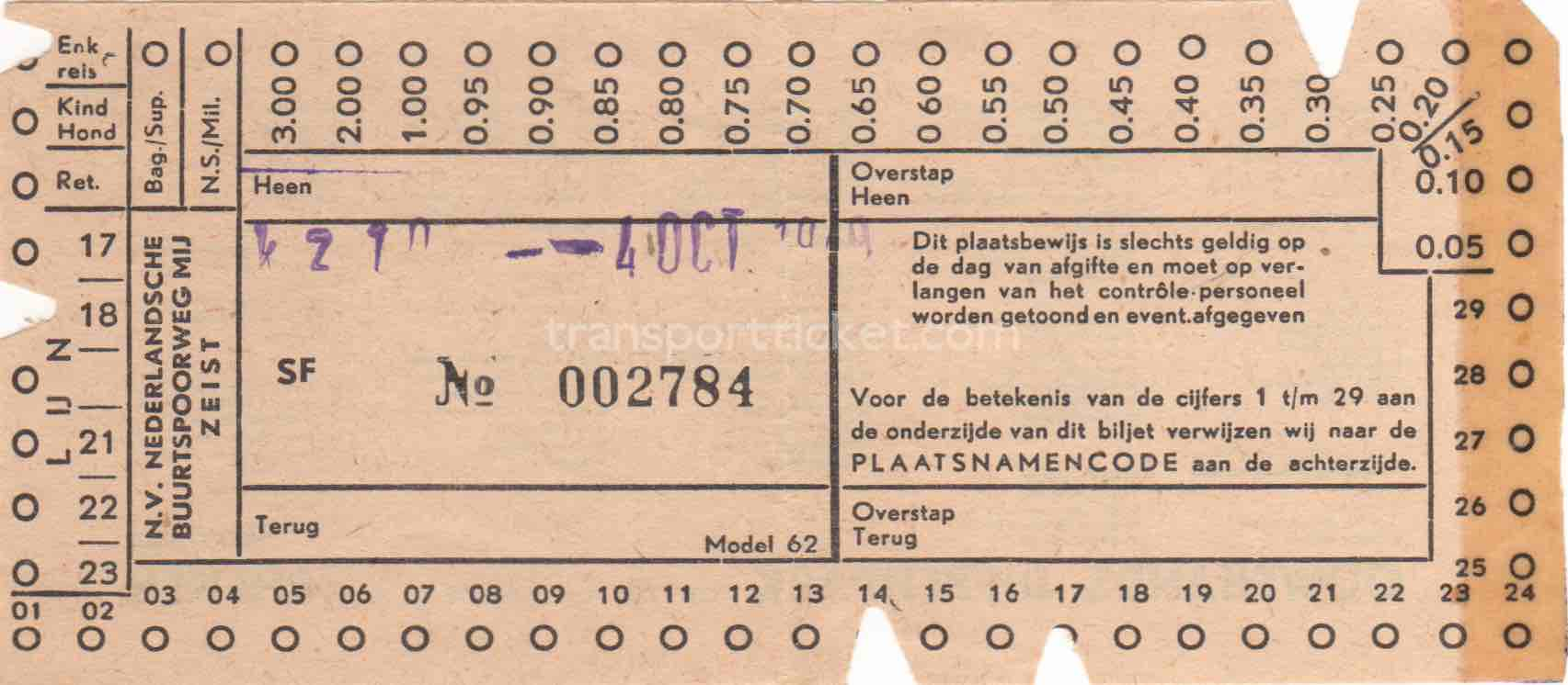 NBM bus ticket (1949)