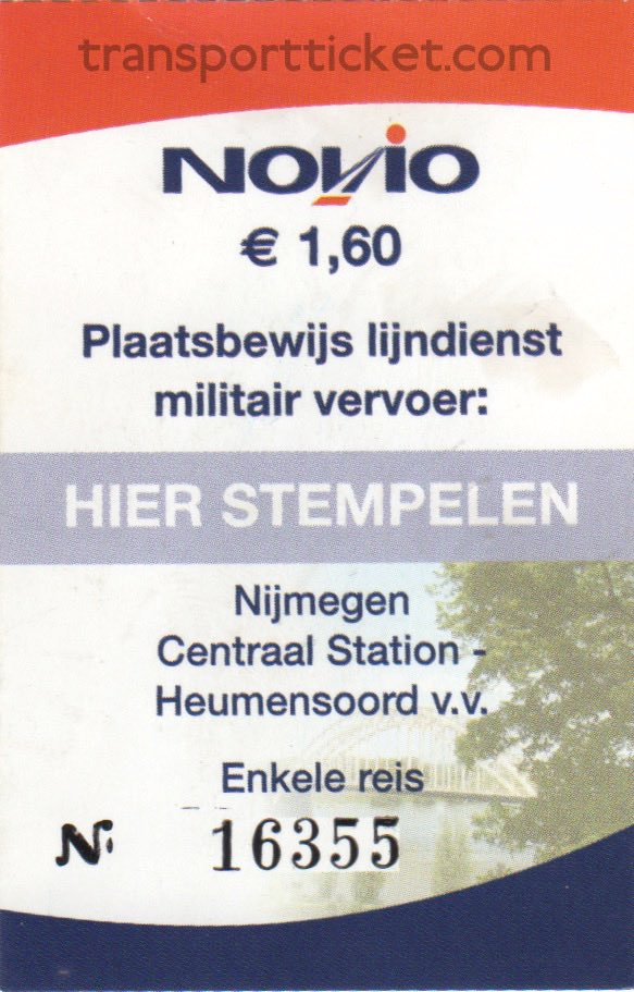Novio bus ticket Vierdaagse for military personnel