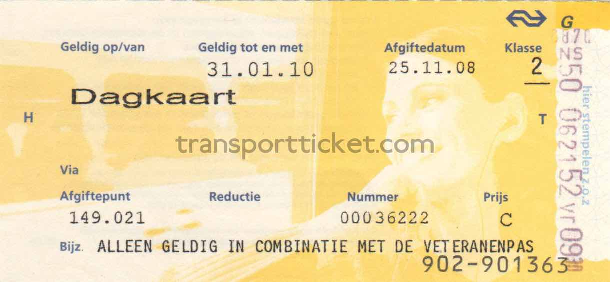 NS railway ticket for a veteran (2008)