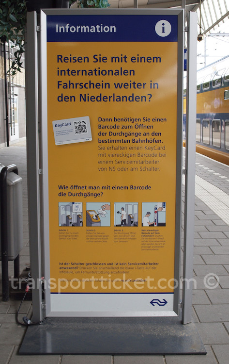 information in German (Venlo, 2015)