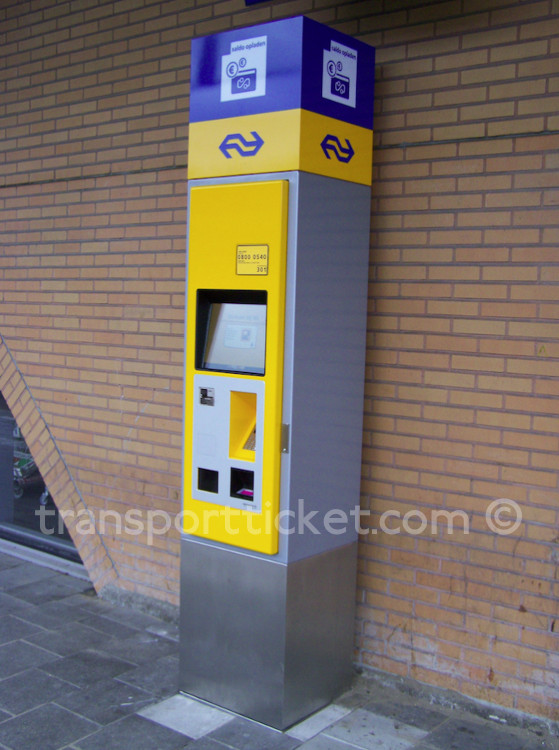 NS smart card terminal (Hilversum, 2015)