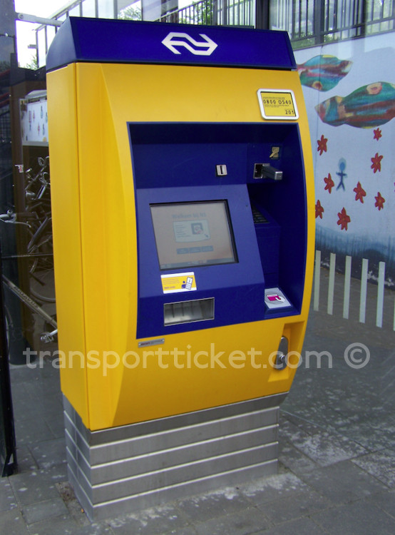 NS ticket machine (Apeldoorn de Maten, 2015)