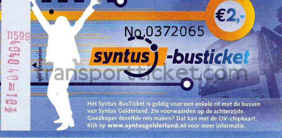 Syntus bus ticket Gelderland