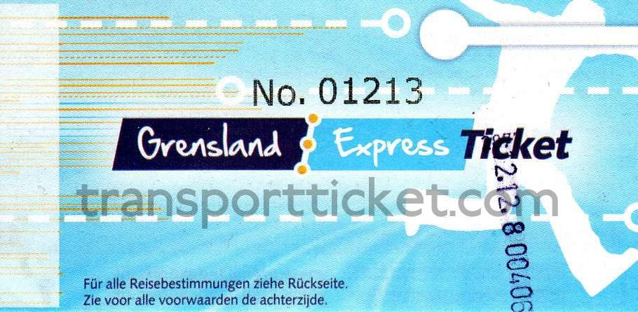 free Grensland Express-ticket (2010)