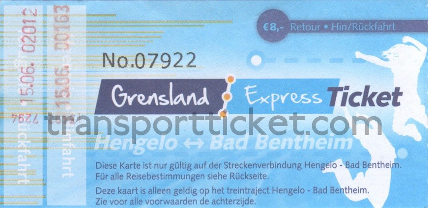 return ticket Grensland Express-ticket Hengelo - Bad Bentheim