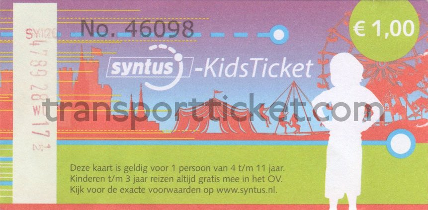 Syntus kidsticket
