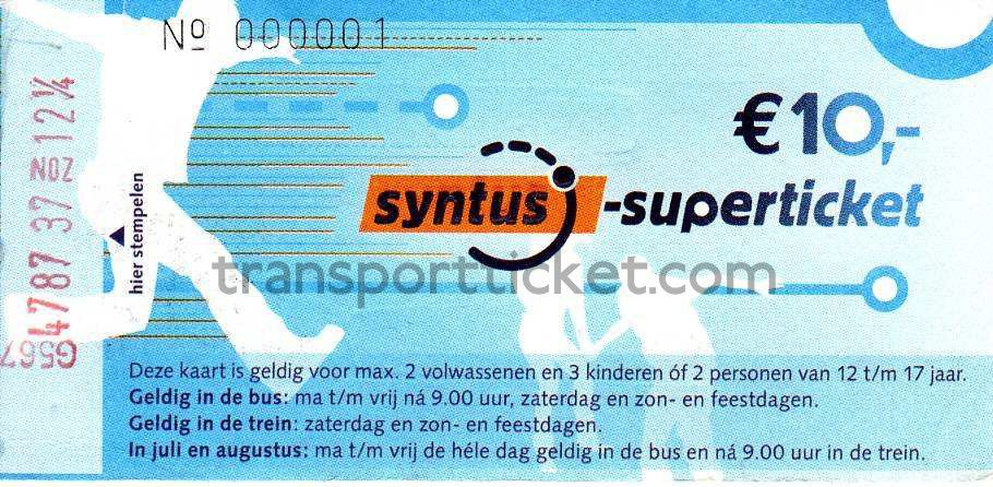 Syntus Superticket (2008-2010)