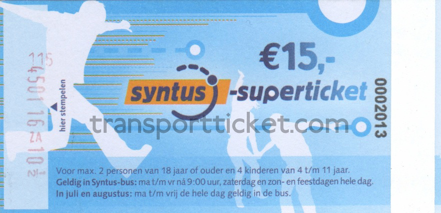 Syntus Superticket (2014-2015)