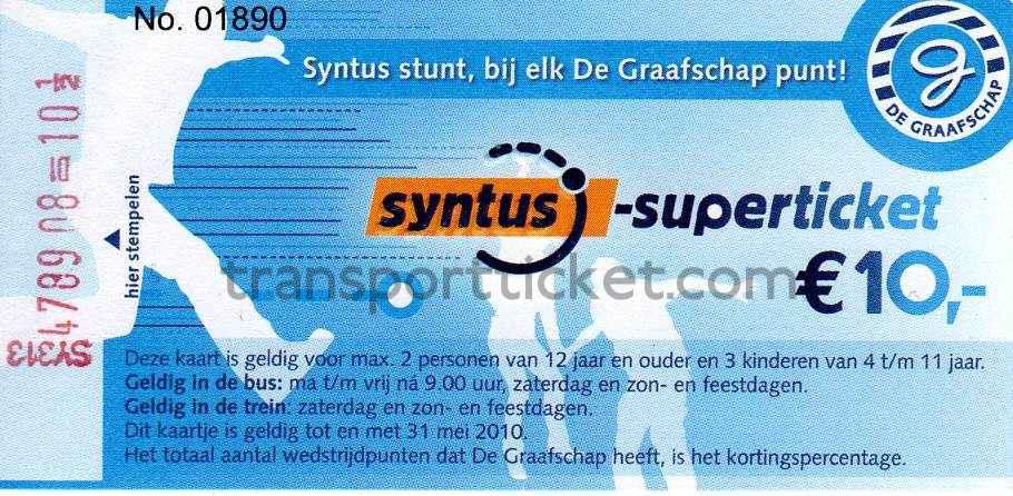 Special Syntus Superticket (sponsorship football club De Graafschap)