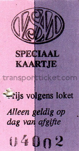 VSM train ticket