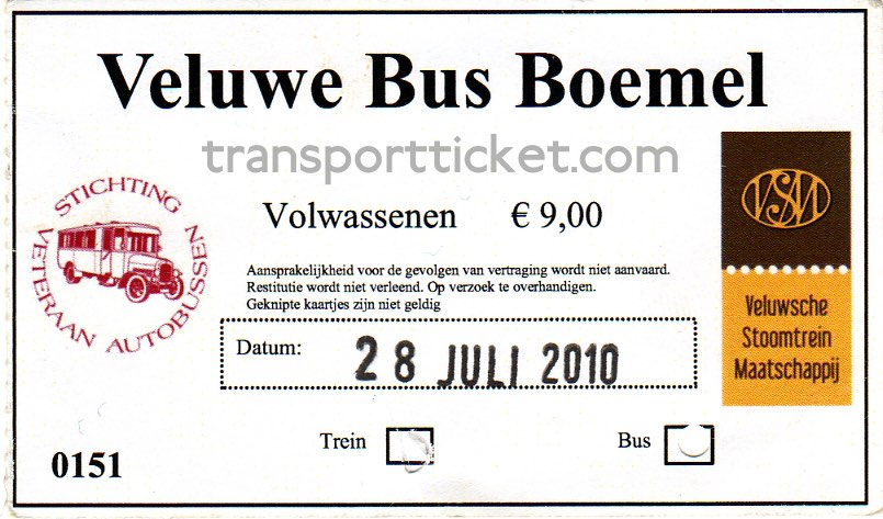 SVA bus and VSM train ticket (2010)