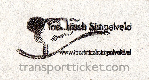 ZLSM train ticket (rear)
