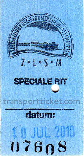 ZLSM train ticket (2010)