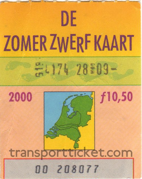 Zomerzwerfkaart, reduced fare (2000)