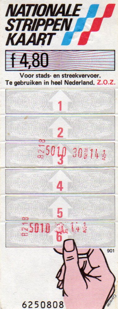 6-strip ticket